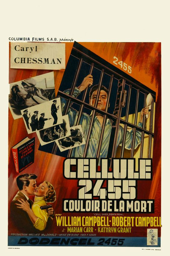 Cell 2455, Death Row (1955) - Original Belgian Poster retouched by Metek09
