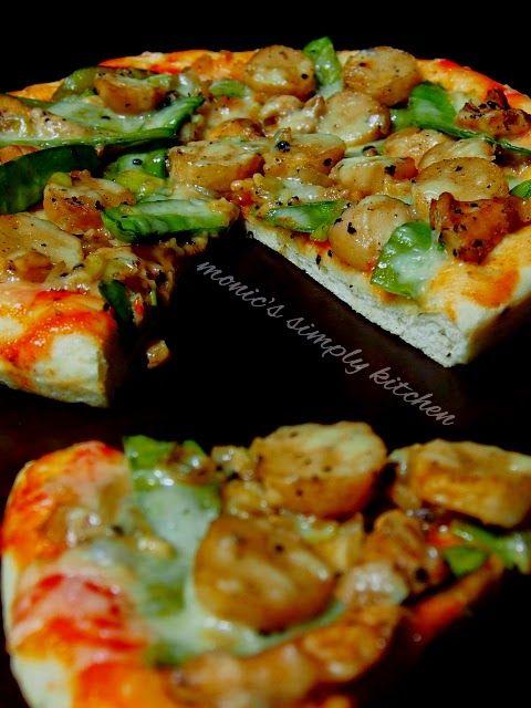 Chicken Black Pepper Pizza Makanan Dan Minuman Pizza Resep Makanan
