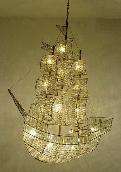 Clipper Ship Chandelier omg