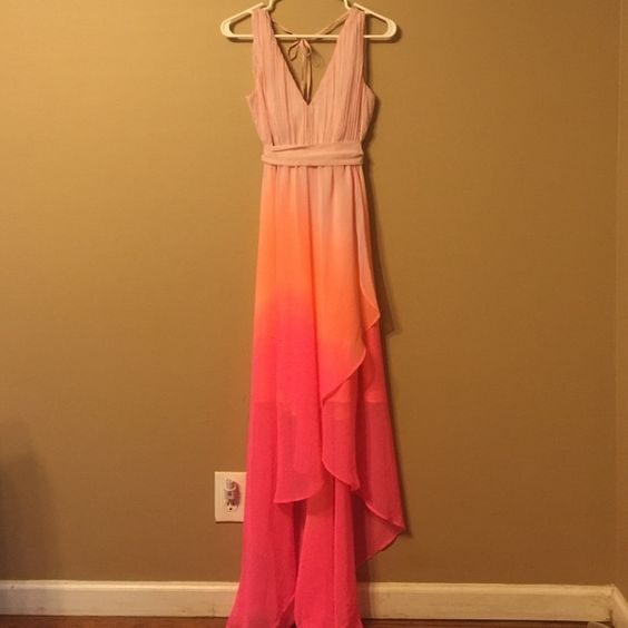 Ombre dress Beautiful high low ombre summer dress Victoria's Secret Dresses High Low