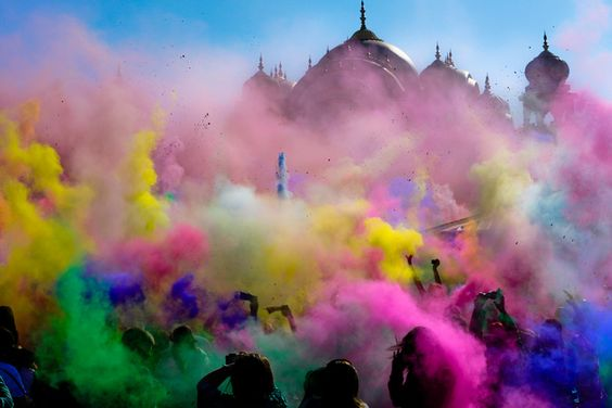 Holi festival in India! Day of color! :)