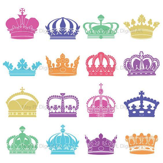 Clip Art Crowns Clipart crown patterns for scrapbook clip art crowns digital clipart colour decorative scrapbook