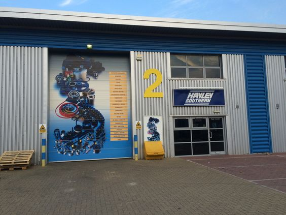 Awesome self adhesive vinyl graphic installed at Hayley Groups's West Thurrock branch #largeformatprinting #signage #installation