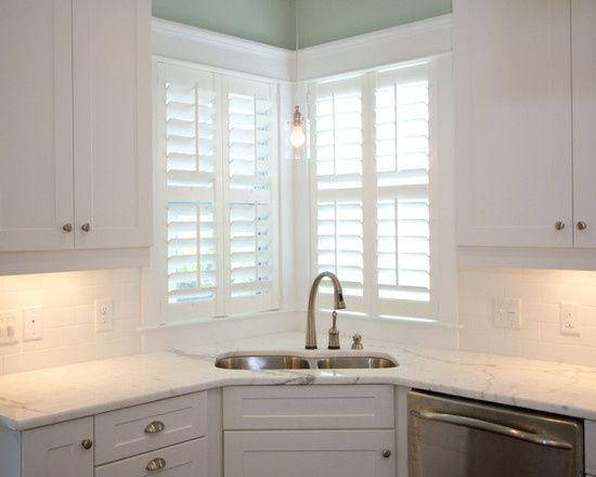 23 Corner Kitchen Sink Ideas For Best Cooking Experience Kitchen Design Kitchen Remodel Kitchen Sink Window