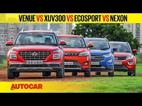 Hyundai Venue Vs Xuv300 Vs Ecosport Vs Nexon Petrol Mt