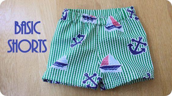 Basic Shorts | http://blog.peekaboopatternshop.com/2012/07/basic-shorts-tutorial.html