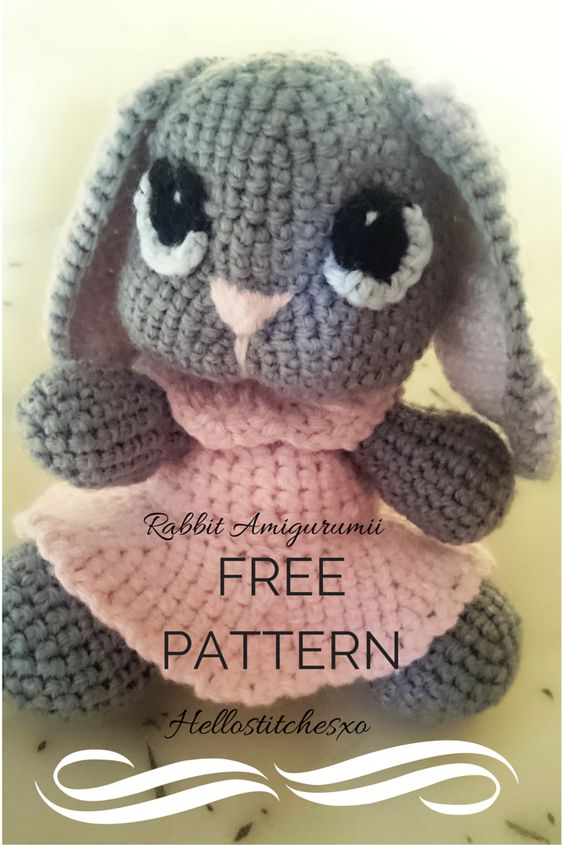 Free Crochet Pattern For Bunny Pin : Rabbit amigurumi_free pattern Crochet ~ Amigurumi ...