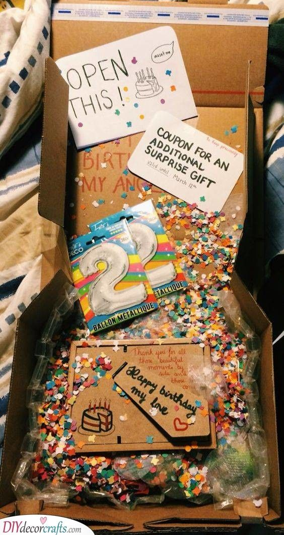 A Birthday Box - Filled with Fun   Birthday care packages, Diy birthday  gifts, Birthday packages
