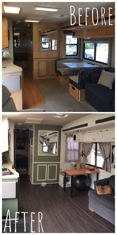 Before And After Our Rv Remodel New Floor Fresh Paint And A