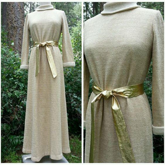 Saks Fifth Avenue Dress Size Medium Belt Vintage 50s Metallic ...