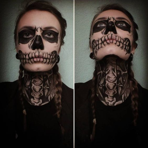 Tate Langdon makeup from American Horror Story ~only using black face paint~