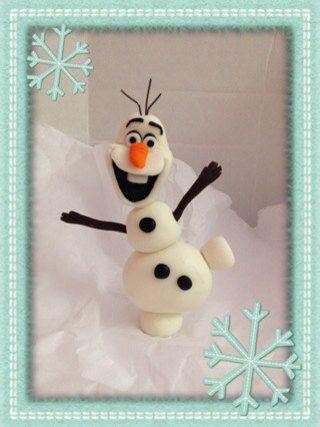 Etsy Frozen Cake Decorations : Olaf Fondant Cake Topper Fondant cake toppers, Fondant ...