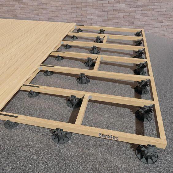 Charming Photo Deckshade Deck Supports Diy Deck Deck Over Concrete