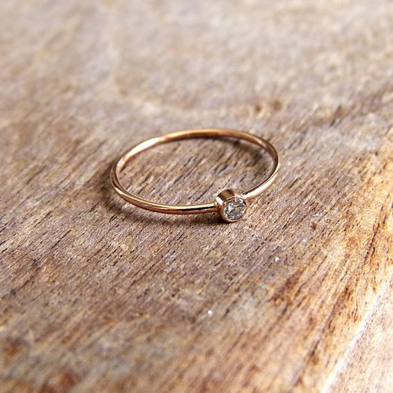 lovely.  Diamond Engagement Ring  Rose Gold Ring  14k Solid Gold by artemer, $210.00