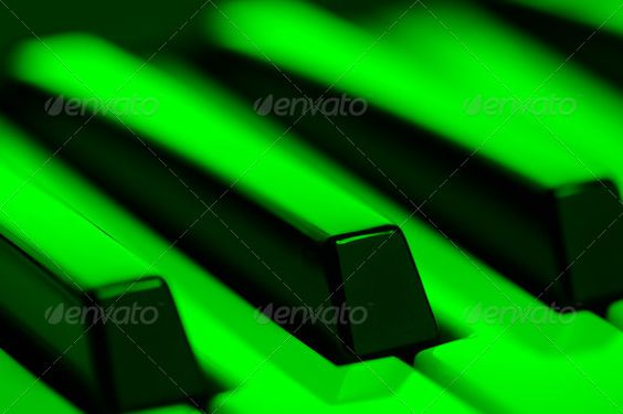 Piano Keys in Green Light ...  art, background, black, chord, classic, classical, close up, close-up, closeup, compose, composing, concert, create, creativity, entertainment, glow, glowing, green, hobby, horizontal, improvise, instrument, keyboard, keys, light, melody, midi, music, musical, musician, note, perform, performance, performer, piano, piano keys, pianoforte, play, playing, rhythm, skill, song, sound, white