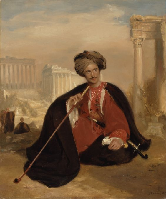 Charles Lenox Cumming-Bruce in Turkish Dress, 1817 by Andrew Geddes (Scottish 1783-1844):