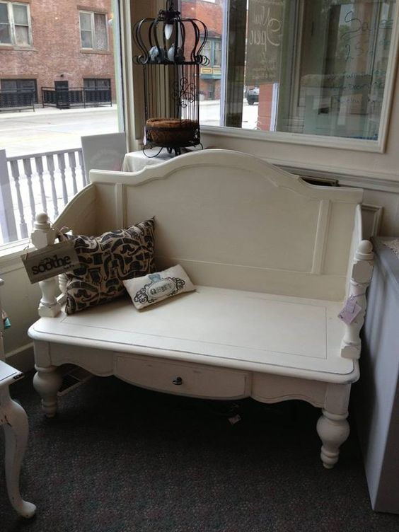 Coffee table and head board and foot board.