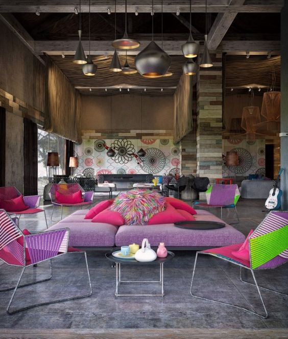 Colorful Exuberant Interior Design Inspiration From W Retreat Spa Vieques Island