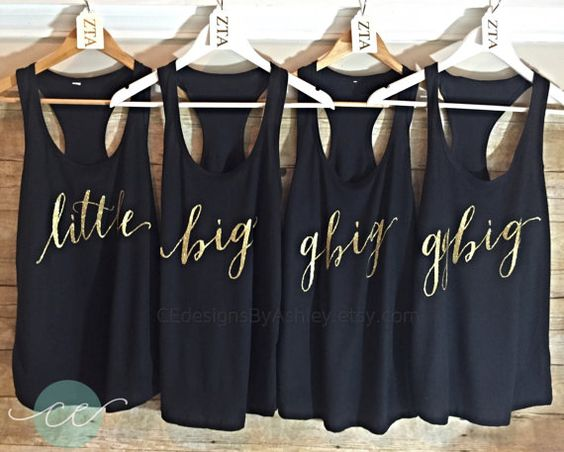 Big little reveal big little tank top Big by CEdesignsByAshley