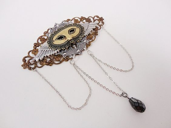 Dr. Brassy's Steampunk Masque Brooch....find it at her Etsy store!