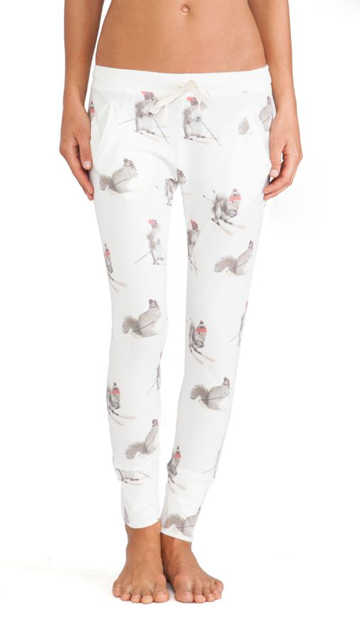 Need these Squirrel long james now #apresski #pajamas
