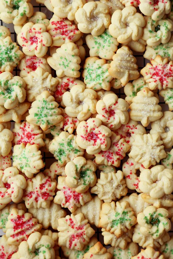 A super easy recipe for Holiday Danish Butter Cookies just like the ones sold in tins at stores! Celebrate the holidays with only a handful of ingredients!