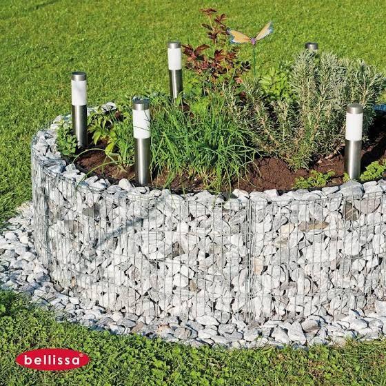 Bellissa Stahl Hochbeet Rund Silber Aluminium Hochbeet Gabionen Hochbeet Pflanzen