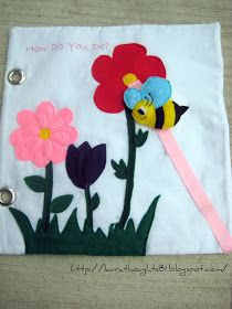 Flowers with a little bee that zips up and down