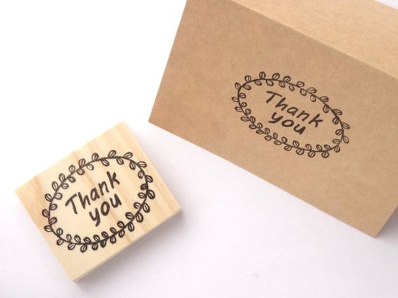 Thank you stamp Rubber stamp Wedding by JapaneseRubberStamps