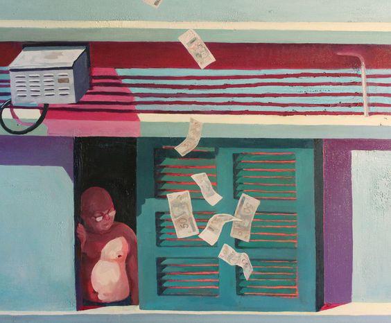 Arthur Arnold / Chove Chuva / Óleo sobre tela - 2012 - 100 x 120 cm