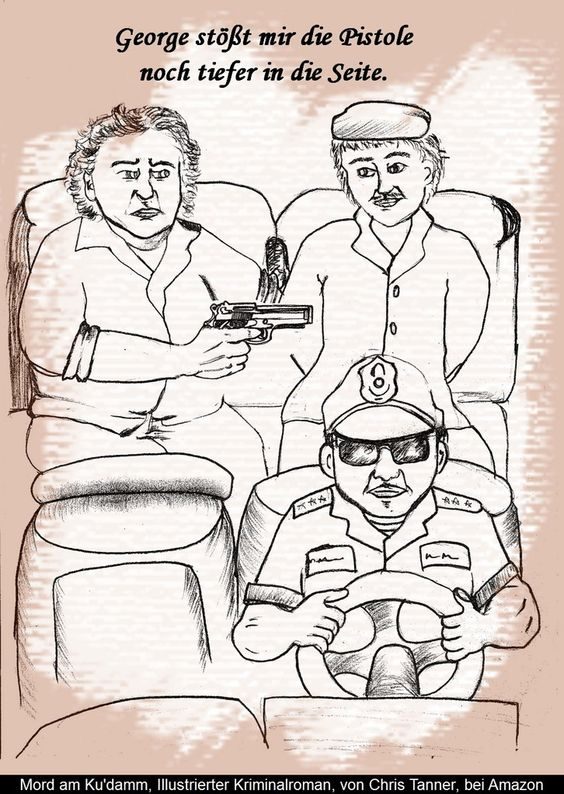 """Eine Entführung. """"Mord am Ku'damm"""". Illustrierter Kriminalroman. / A kidnapping. """"Murder on the Kurfürstendamm"""". Illustrated detective novel. www.gutenachtgeschichten24.com"""