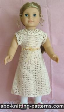 ABC Knitting Patterns - American Girl Doll Dress ...
