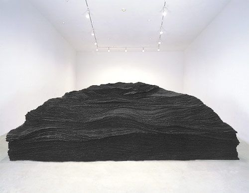 Tara Donovan, Brooklyn, New York - Sculptures made of paper, Styrofoam cups, tape, drinking straws, and other objects