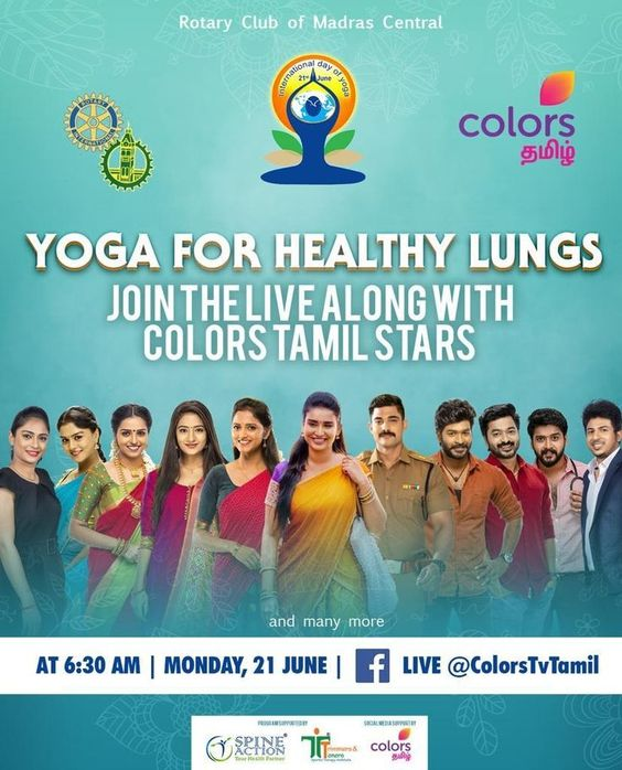 Colors Tamil celebrates yoga from home: Promotes the importance of fitness and healthy lifestyle on International Yoga Day 2021
