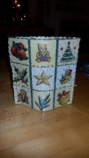 Serviettentechnik Weihnachten ( christmas ) Windlicht