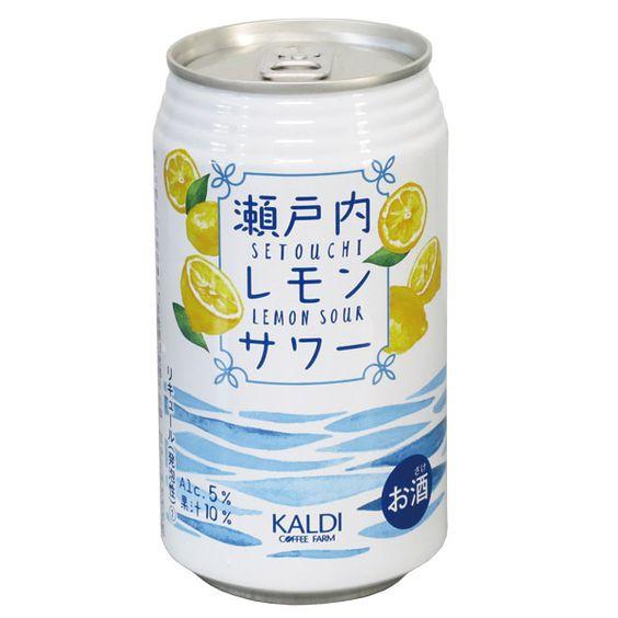 ちょっぴりビターな大人のサワー♡カルディの「瀬戸内レモンサワー」