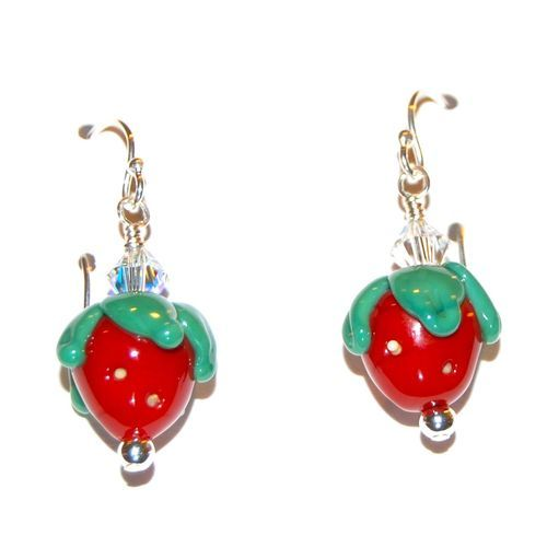 'Please Don't Eat The Strawberry Earrings' is going up for auction at  5pm Thu, Sep 13 with a starting bid of $10.