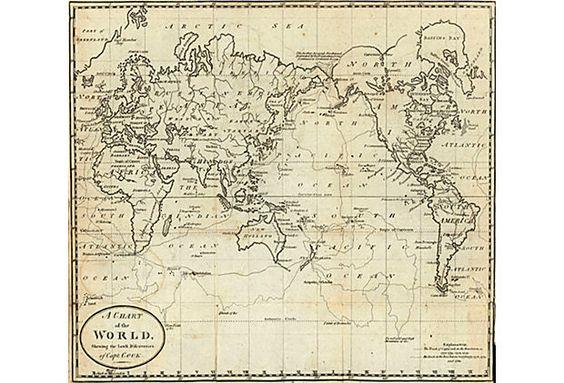 Map of the World, 1788 on OneKingsLane.com