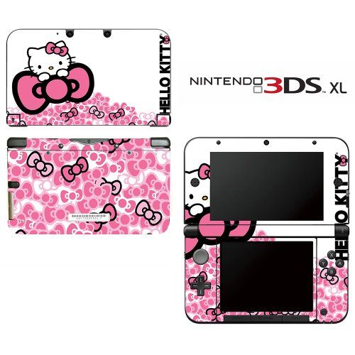 Hello Kitty Pink Bow Decorative Video Game Decal Cover Skin Protector For Nintendo 3Ds Xl, 2015 Amazon Top Rated Faceplates, Protectors & Skins #VideoGames