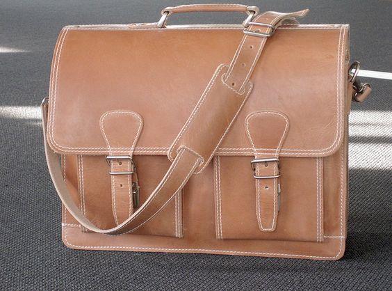 Aktentasche Lehrertasche Schultasche Leder  von Caballito_blanco auf DaWanda.com