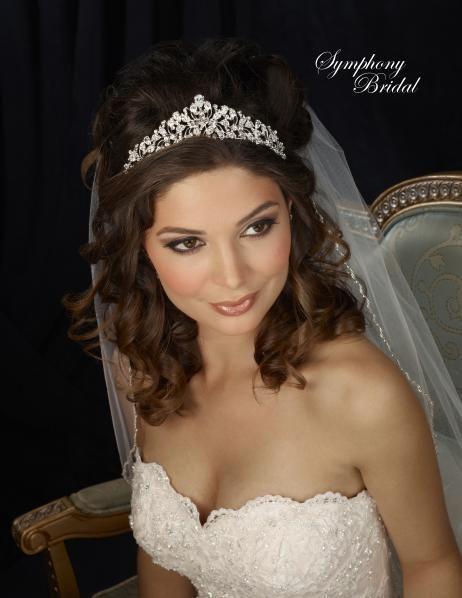 Stunning Symphony Bridal 7307CR Wedding Tiara - accessory sale! - Affordable Elegance Bridal -