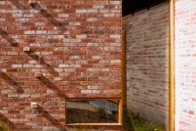 Ilma Grove. Maynard Architects. Detail - brick -  timber windows