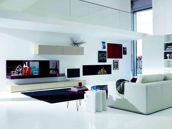 Modern Livingroom Mod. 04-05 / Salotto moderno Mod. 04-05  Modern Living rooms - Salotti ...