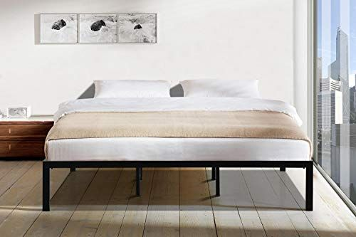 New Smith Oliver 00014 King Metal Platform Bed Black Online In