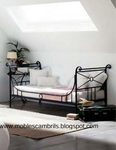 Sof cama en forja en mobles cambrils forja pinterest for Sillas para recamara
