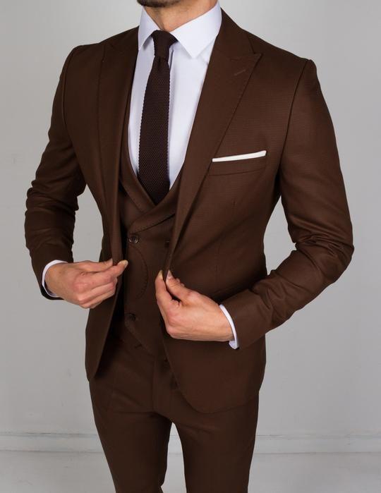 Dark Brown 3 Piece Suit Brown Suits For Men Dress Suits For Men Designer Suits For Men