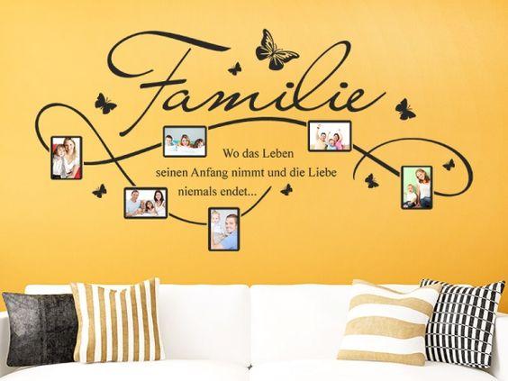 Stylisches Fotorahmen Wandtattoo für die ganze Familie. :)