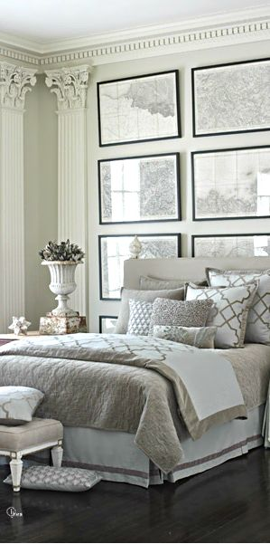Love...gray master bedroom: