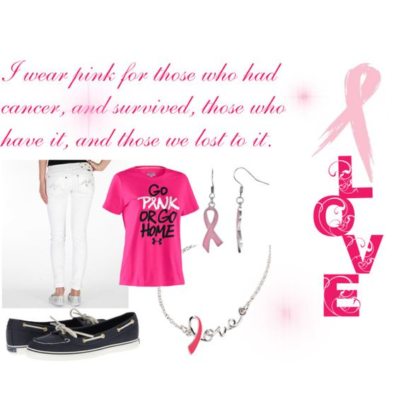 """""""Breast Cancer Awareness"""" by sami-rae on Polyvore"""