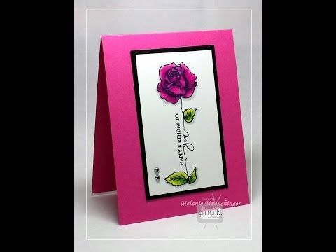 """Stamping Scripty """"Stems"""" for A Year of Flowers 3 - YouTube"""